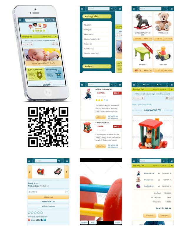 OpenCart mobile first template